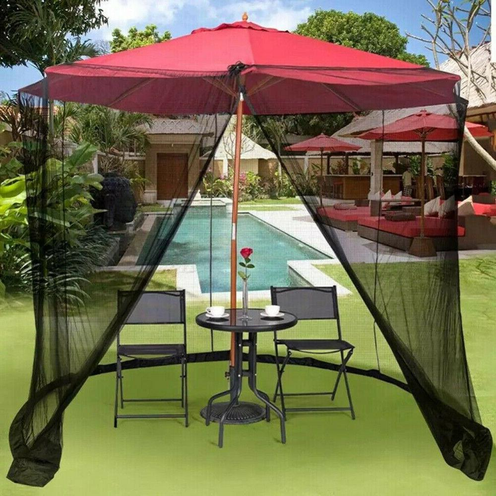 9/10FT Outdoor Umbrella Table Screen Cover Mosquito Bug Inse