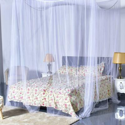 Hot White Bed Canopy to King Corner