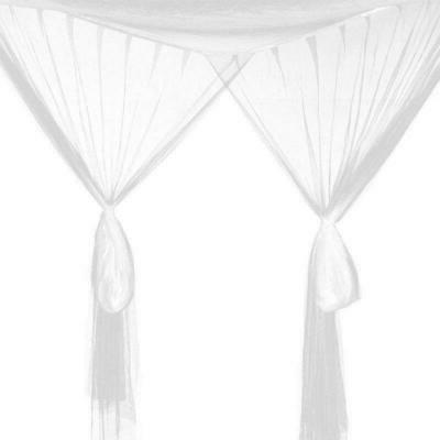 Hot Post Bed Canopy to Size Corner White