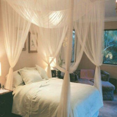 hot bedding post white bed canopy mosquito