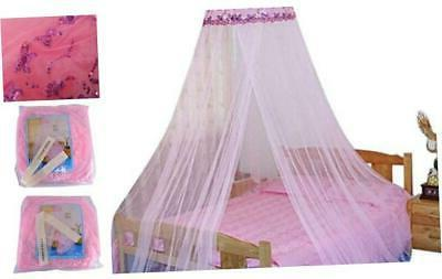 housweety new round sequins curtain dome bed