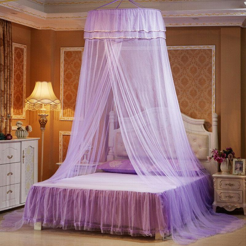 Kids Princess Canopy Netting Curtains Net Bedding Dome Hanging Tent