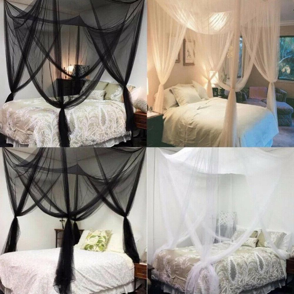 Classical Bed Canopy Twin Queen King Net White/Black