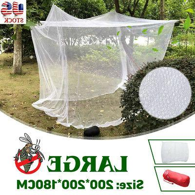 large mosquito camping net indoor twin bed