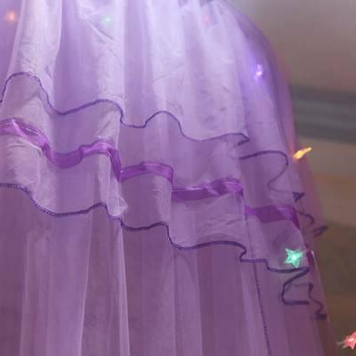Girl Princess Bed Lace Netting Curtains Canopy Solid Mosquito