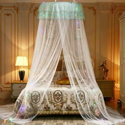 Lace Mosquito Mesh Princess Round Dome Net & LED