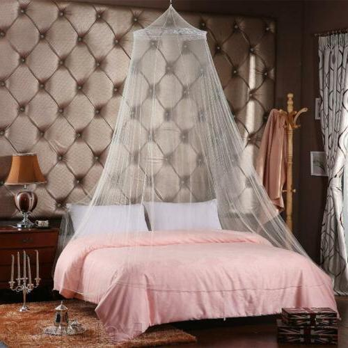 Mosquito Net Bed Queen Size Home Lace Canopy Netting