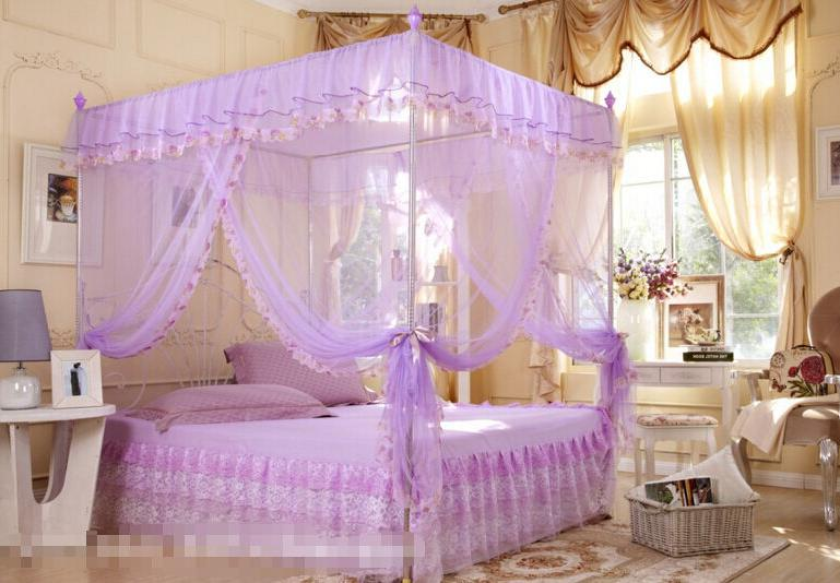 Mesh Summer Corners Post Bed Mosquito Twin Queen King Size