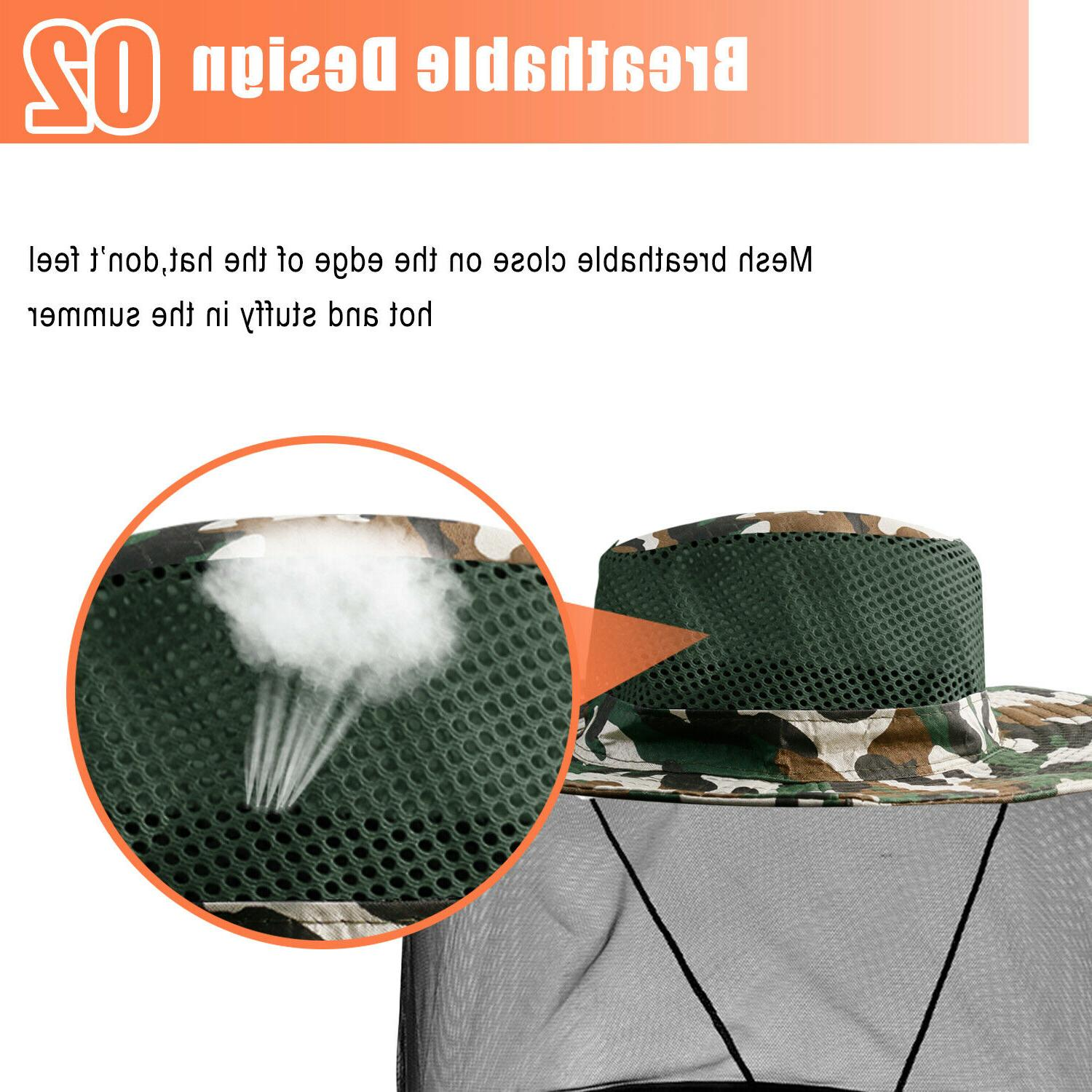 Fishing Anti-Mosquito Insect Head Face Cap