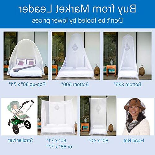 EVEN NET for Single, to Bed Canopy Mosquito Easy Installation, Bag, Mesh 380
