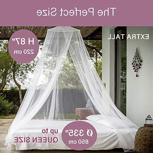 EVEN NET for to Queen Canopy Curtains, Large Mosquito Easy Installation, Mesh 380
