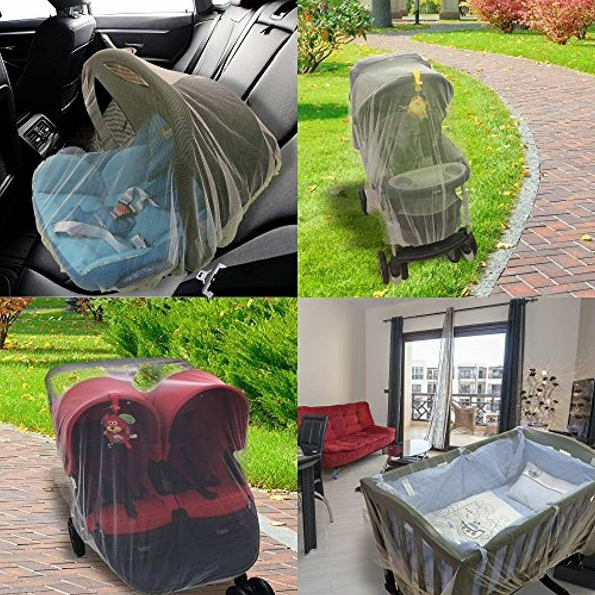 Mosquito Net Baby Stroller Crib Pack Play Elastic