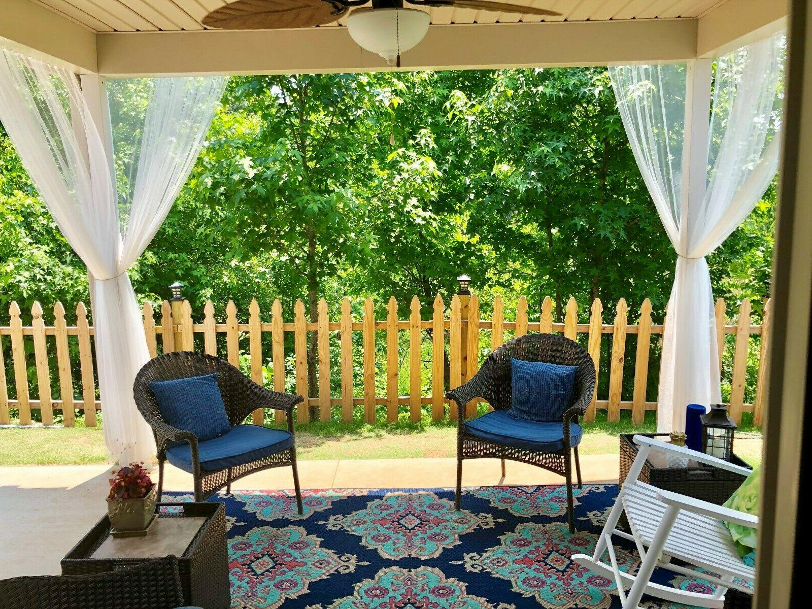 Mosquito Netting Curtain Panel Outdoor Curtain For Patio