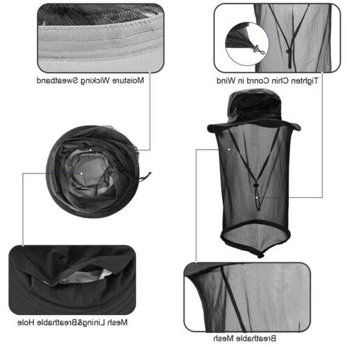 Outdoor Head Hat Mesh Face Mask Cap Camping
