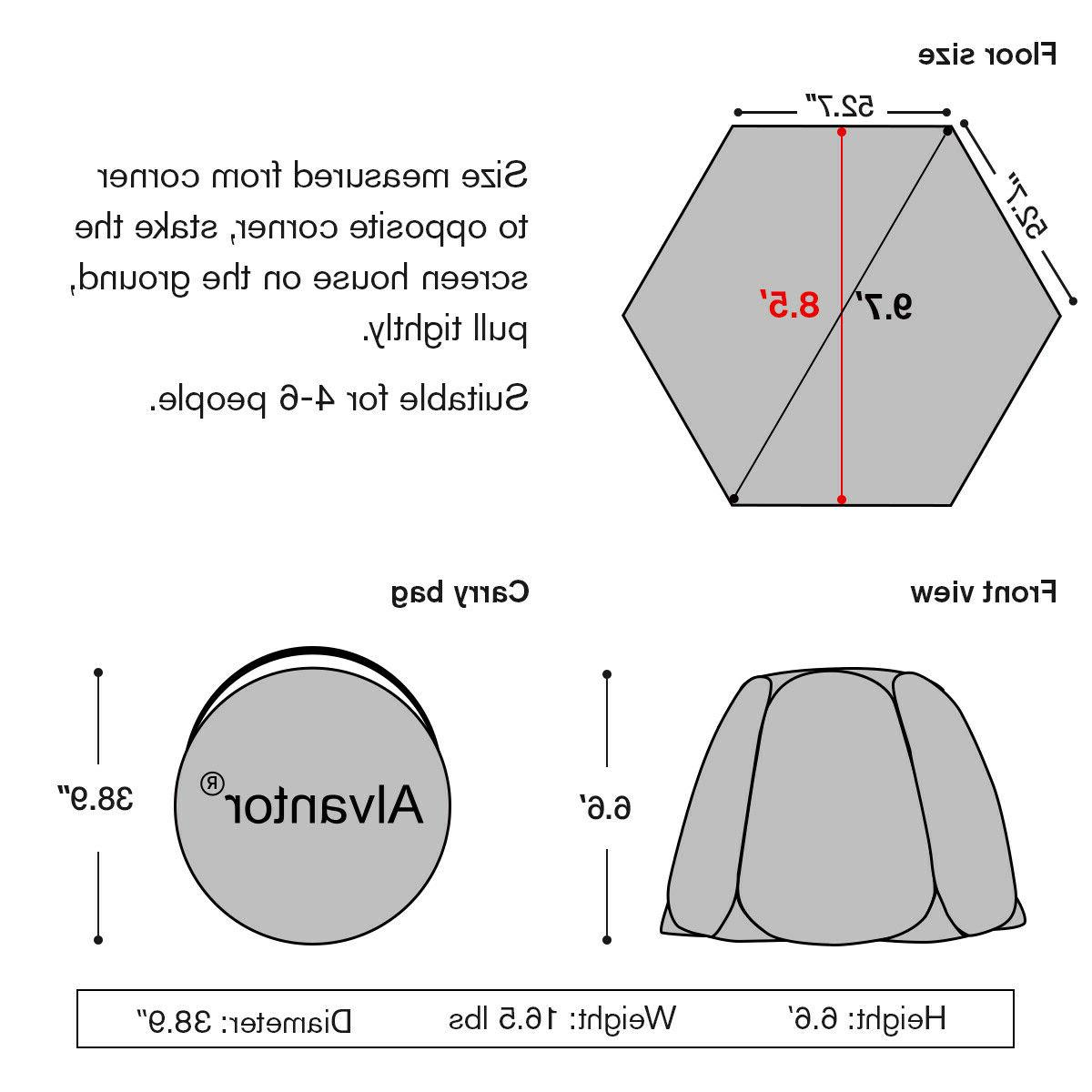 Pop Room Camping Canopy 4-6 for