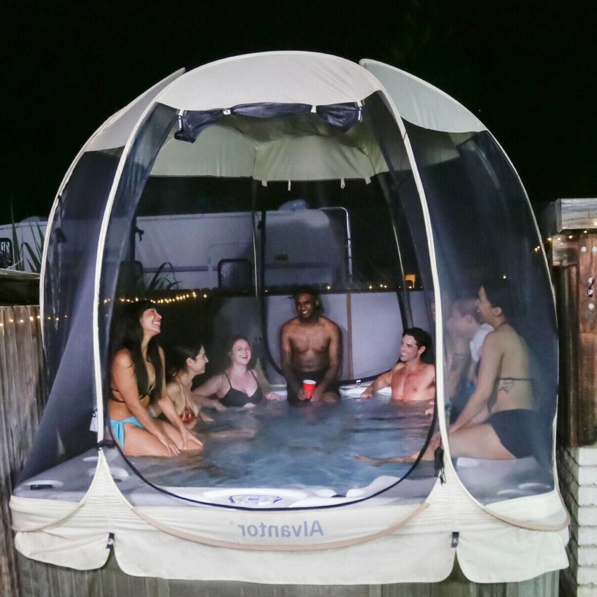 Pop Up Screen House Room Camping Canopy Gazebo for Patio
