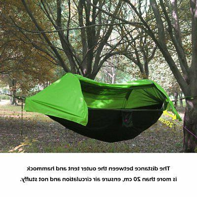Outdoor Camping Hammock with Mosquito Net&Rain Cover Water