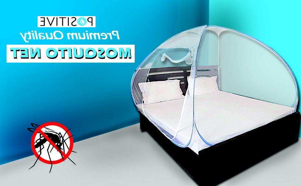 positive mosquito net foldable size double bed