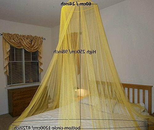 Round Hoop Bed Canopy Mosquito Net for All Size bed Party Ca