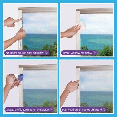 Self-Adhesive Mosquito Small Bug Fly Curtains Guard