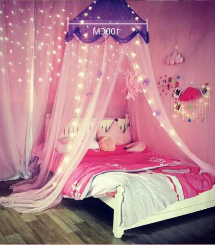 Princess Star Bed Canopy Bedroom Lace Mosquito Net for Girls