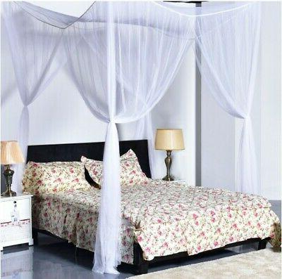top 4 corner post bed canopy mosquito