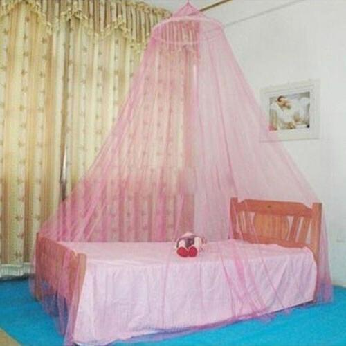 US Elegant Lace Bed Mosquito Netting Mesh Canopy Princess Ro