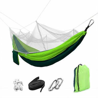 US 2 Person Travel Outdoor Camping Tent Hanging Hammock Bed
