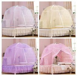 Lace Bed Canopy Insect Mosquito Net Netting Tent for Twin Fu