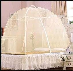 Lace Mosquito Folding Bed Netting Easy Pop Up Free Standing