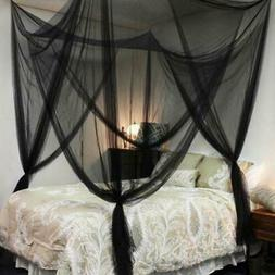 Large 4 Corner Post Bed Canopy Mosquito Net Netting Bedding