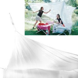 Large Size White Mosquito Fly Net Netting Indoor Outdoor Cam