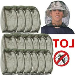 LOT Mosquito Head Net Hat bug insect fly bee mesh repellent