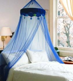 DREAMMA Blue Round Dome Bed Canopy Bedcover Mosquito Net Bug