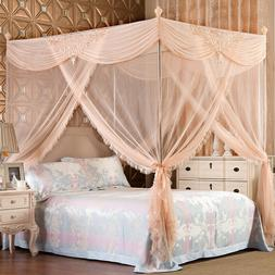 Luxury mosquito net bed netting & frames romantic bed curtai