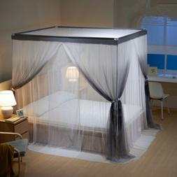 luxury mosquito net double layers netting for bed canopy sta