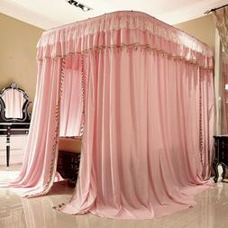 luxury mosquito net with U-shape rail frames bed netting lac