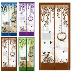Magnetic Curtain Door Net Screen Insect Bug Mosquito Fly Ins