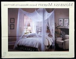 Mombasa Majesty Ivory Sheer Mosquito Netting 100% Polyester