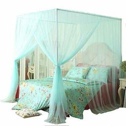 Mengersi 4 Corner Bed Canopy Curtain Bed Frame Draperies