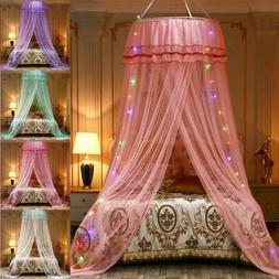 Canopy Solid Mosquito Net Princess Bed Lace Mesh Shield Hang