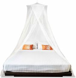 Mosquito Bed Canopy Net for King Queen Twin Two Openings Pol