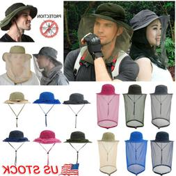 Unisex Mosquito Head Net Hat with Hidden Mesh Protection Bug