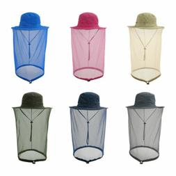 Mosquito Head Net Hat with Hidden Mesh Protection Bees Hikin