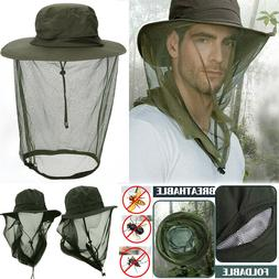 Mosquito Head Net Hat with Hidden Mesh Protection Bugs Bees