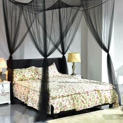 Goplus Mosquito Net, 4 Corner Post Bed Canopy, Quick And Eas