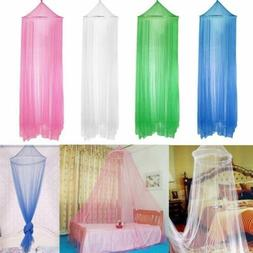 Mosquito Net Bed Queen Size Home Bedding Lace Canopy Elegant