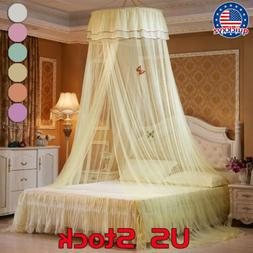 Mosquito Net Curtain Canopy Ceiling Tent Hook Dome Full Bed