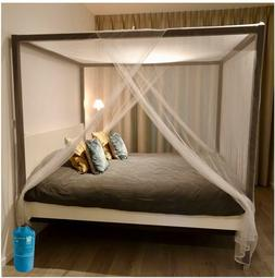 Mosquito Net for Bed Canopy Double to King 2 Entries Hanging