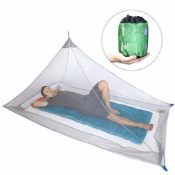 Mosquito Net for Single Camping Bed 250 Holes per Square Com